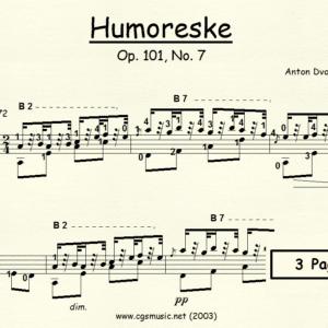 Humoreske Op.101, No. 7