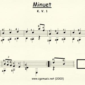 Minuet K.V. 1