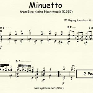 Minuetto from Eine Kleine Nachtmusik