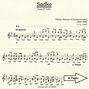 Sadko Song of India
