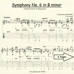 Symphony #6 in B minor