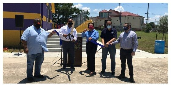 Mayor Cantrell Celebrates Completion of Clubhouse at McCue Playground
