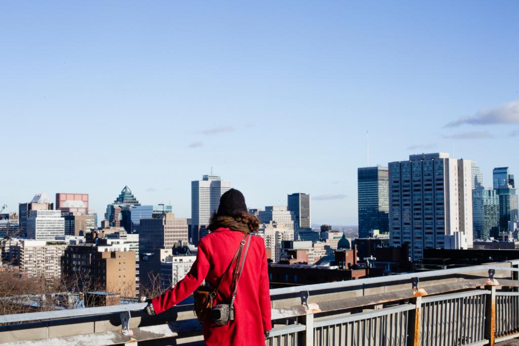 La ville de Montréal en hiver.