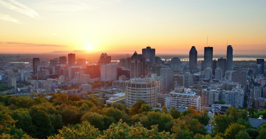 Un coucher de soleil sur Montréal