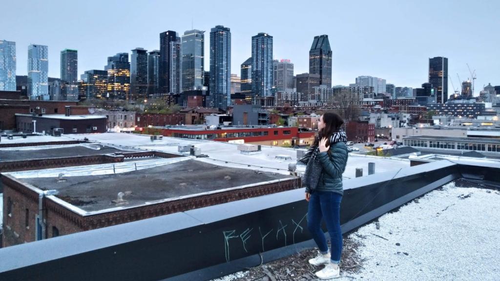 Rooftop avec vue sur le Centre-Ville de Montréal