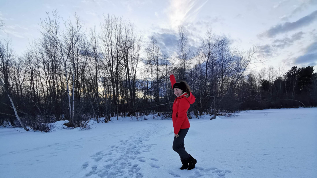 Petite marche sur le Lac des Nations gelé de Sherbrooke.