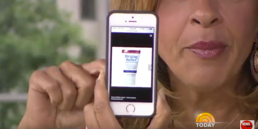 bruise relief on the today show bruise creme