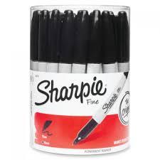 SHARPIE Fine Point Permanent Marker, Black, Fine, 36 Bulk