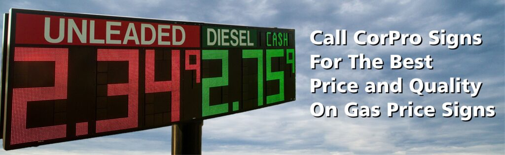 CorPro Signs Gas Price Sign