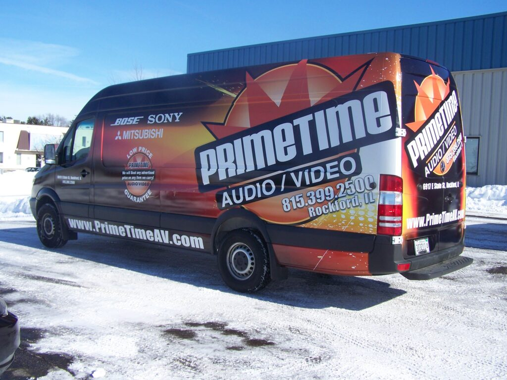 CorPro Signs Rockford vehicle full-wraps