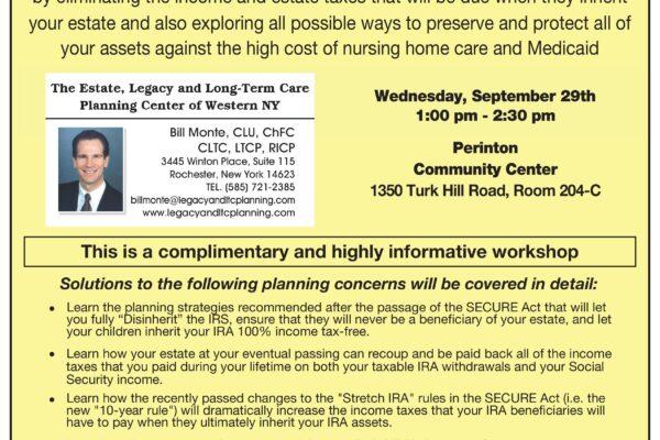 Free estate planning workshop September 29, 2021
