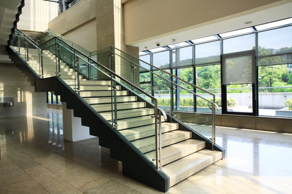 Glass Balustrade on a Stairway by Markham Glass & Mirror