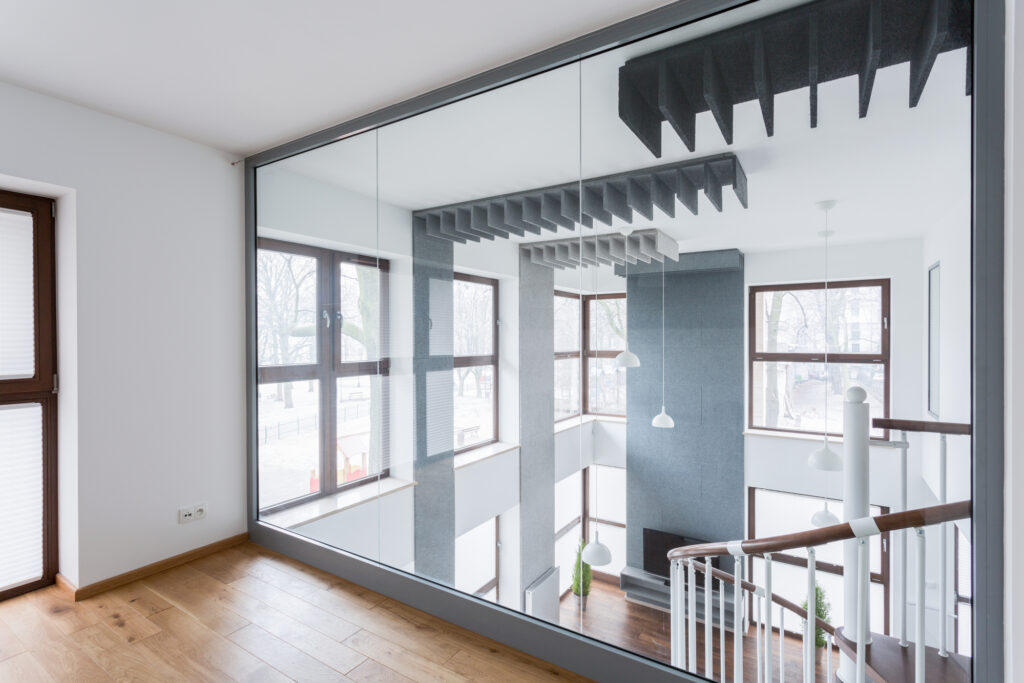 Markham Glass & Mirror - Mirrored Glass wall