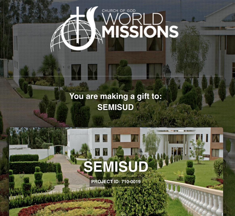 Dona a través de Iglesia de Dios Misiones Mundiales aquí: