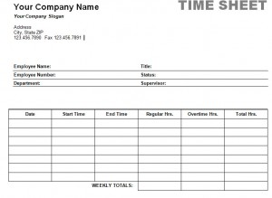 Timesheet, MS Word, Weekly, Payment, Paycheck