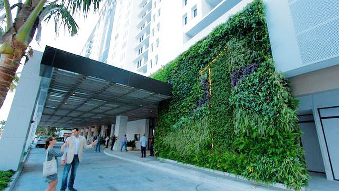 AgroSci Greenwall at One Hotel Miami