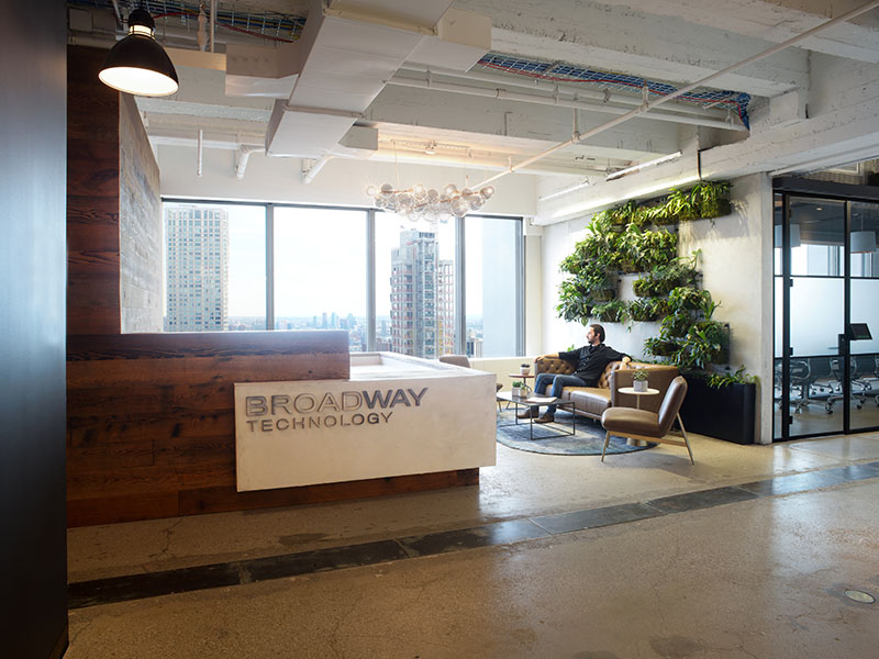 AgroSci Green Wall Broadway Technology Waiting Room