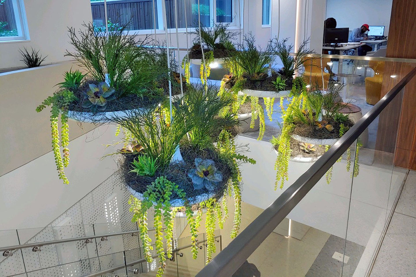AgroSci Plantscape with Hanging Artificial Plants