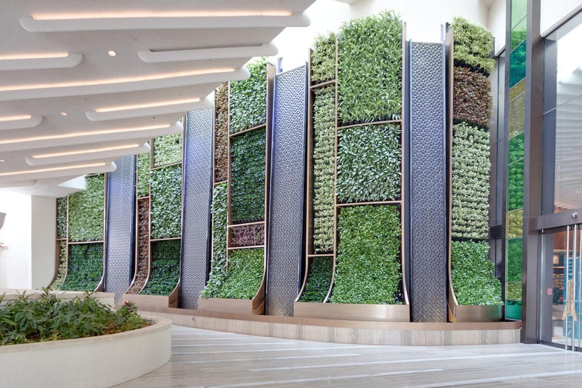 AgroSci Green Wall at Seminole Hard Rock Hotel & Casino Entrance