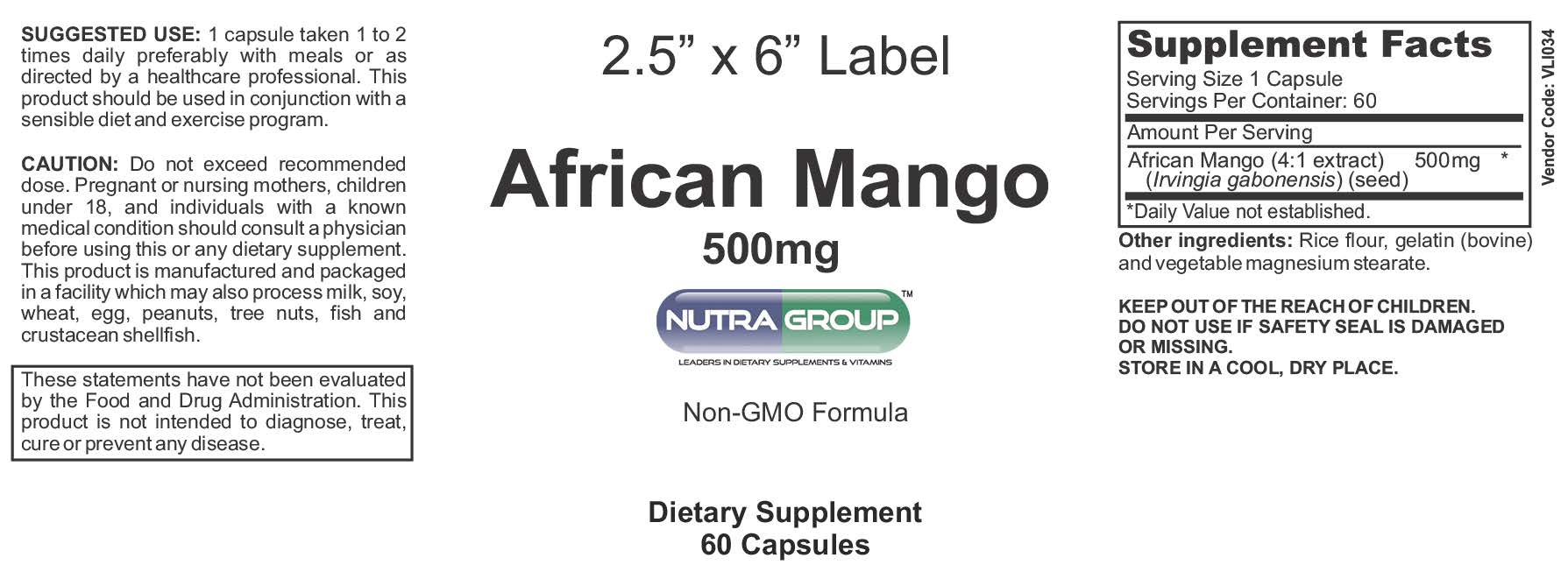 private label african mango