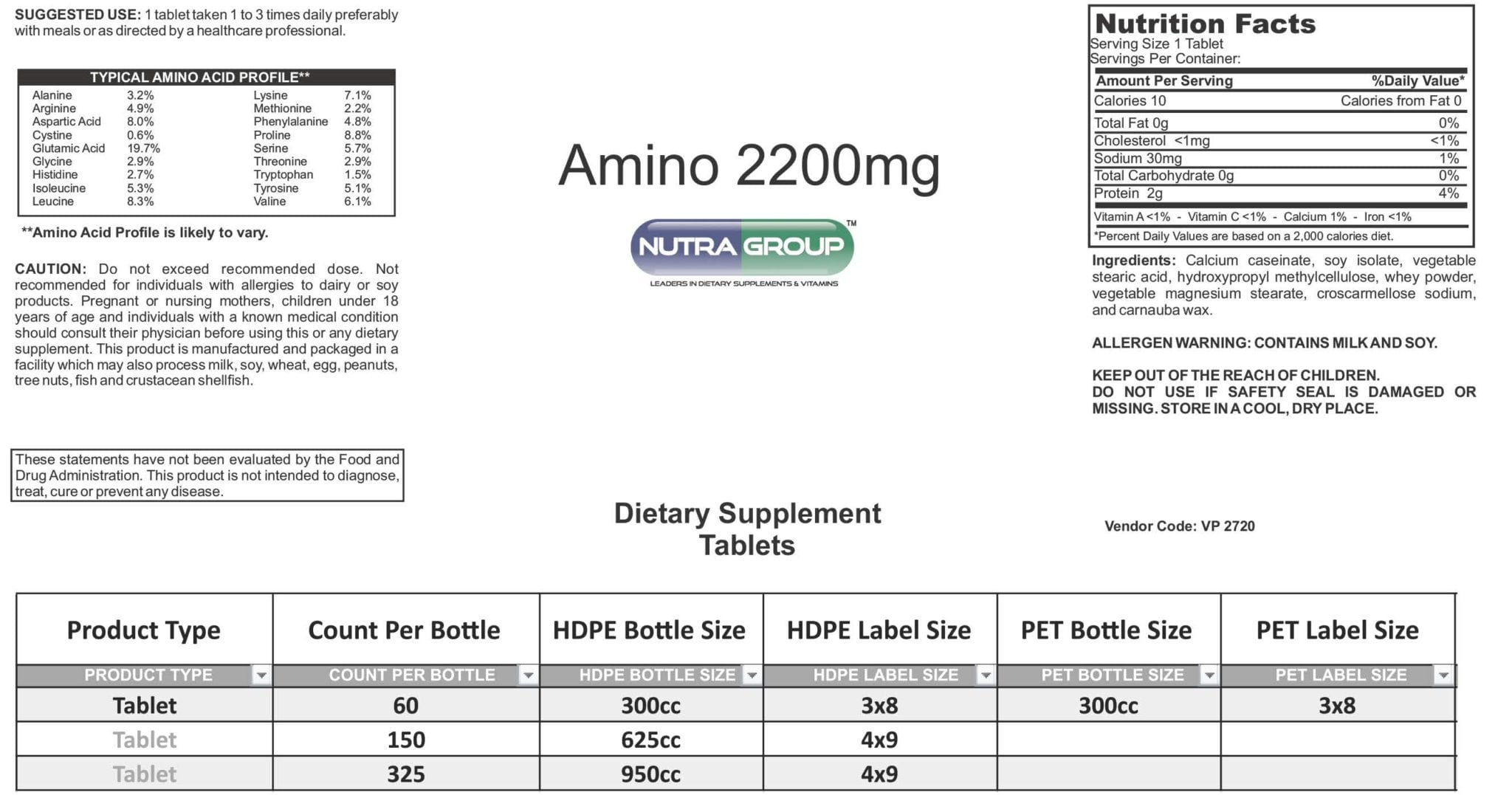 Private Label Amino Acids supplements