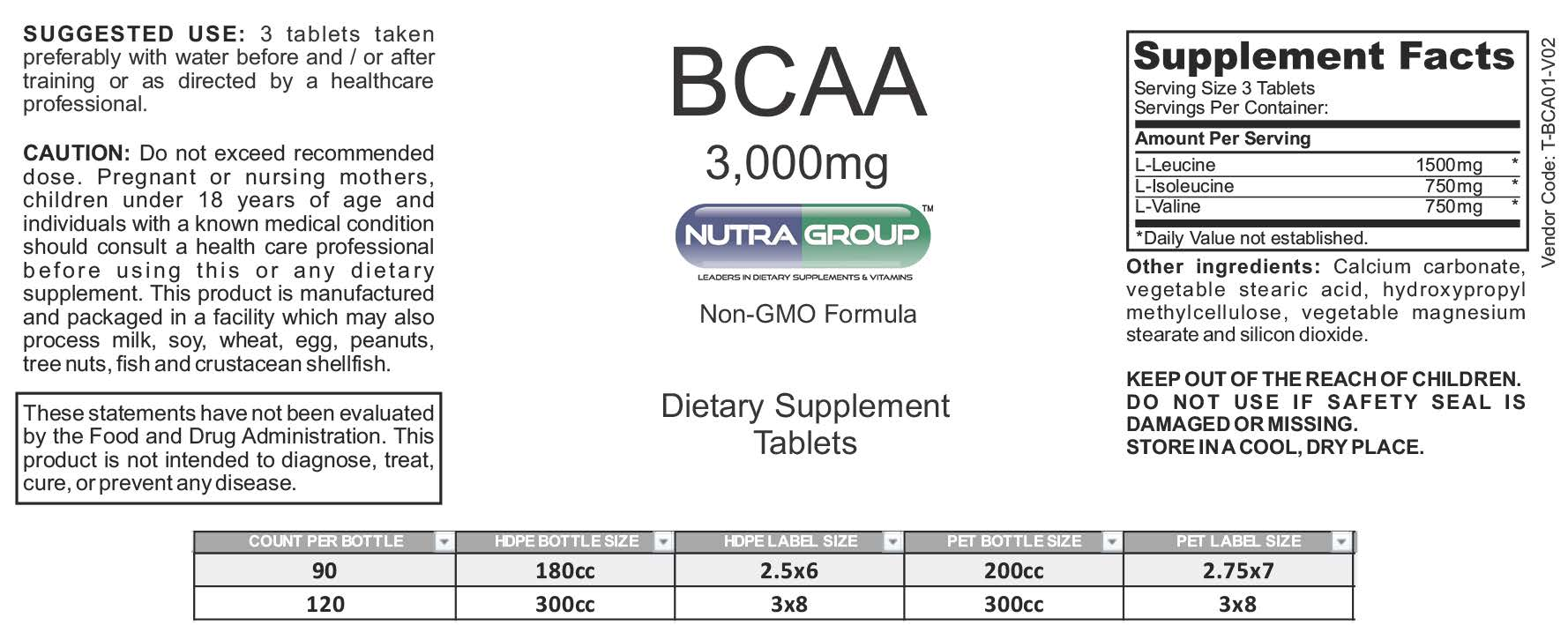 Private Label BCAA Supplement