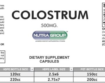 Private Label Colostrum supplement
