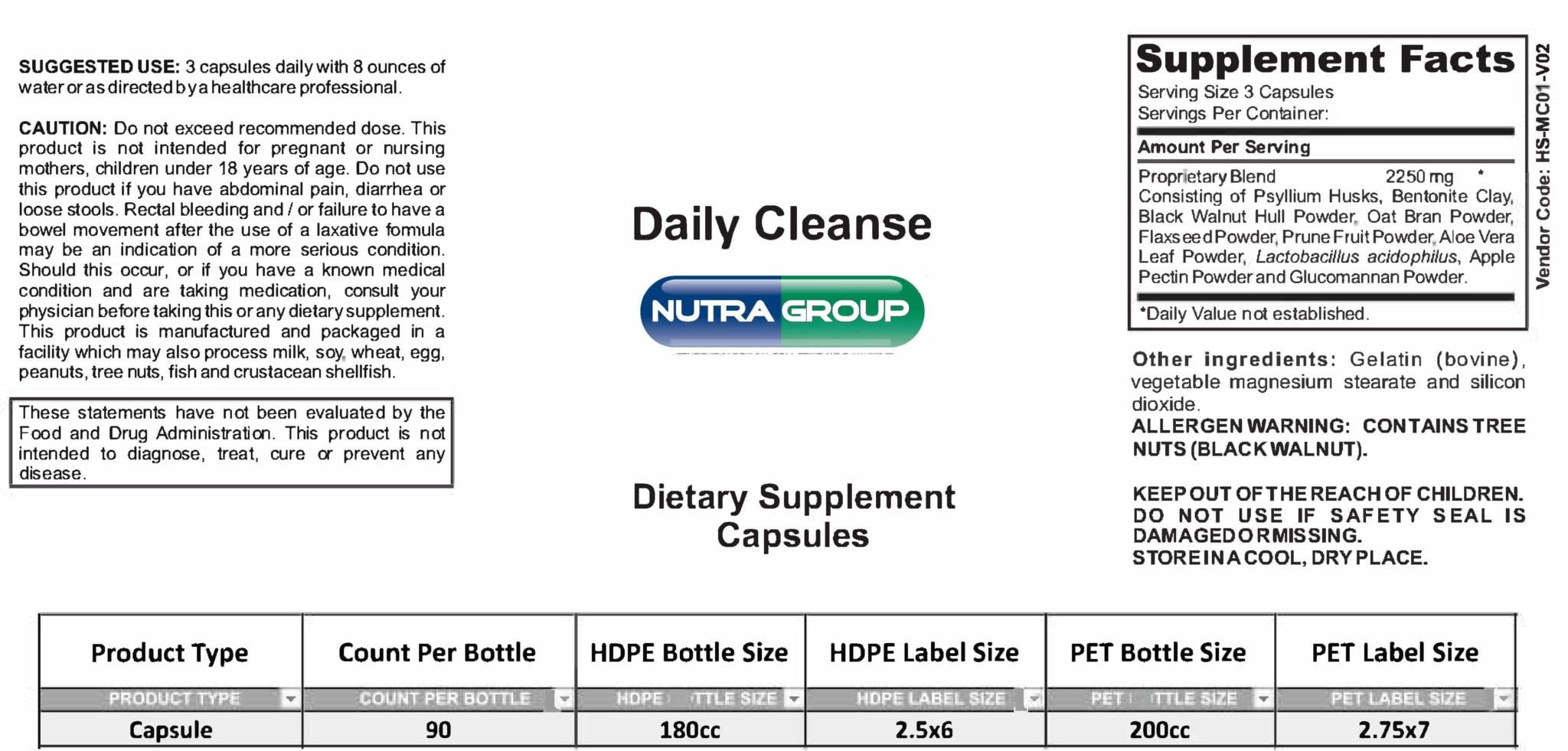 Private label colon cleanse supplements