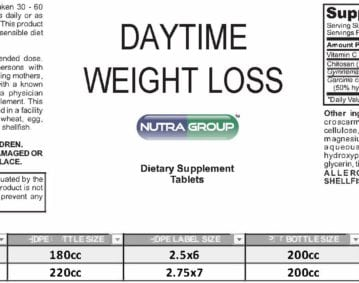 private label day time weight loss supplement