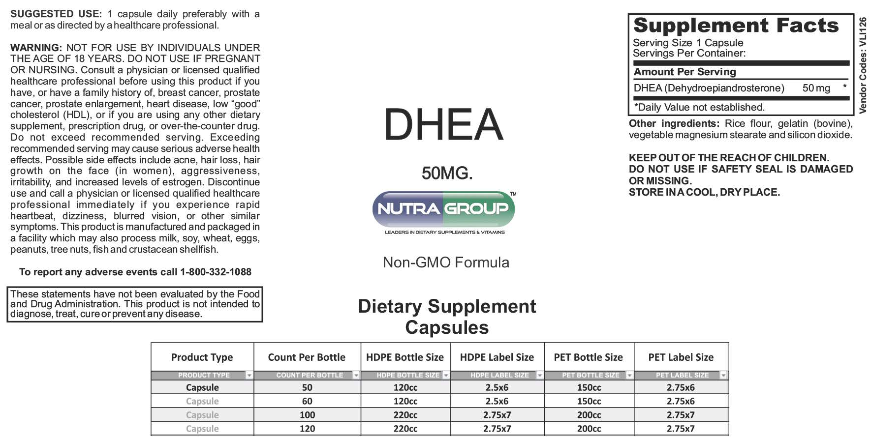Private label DHEA supplements