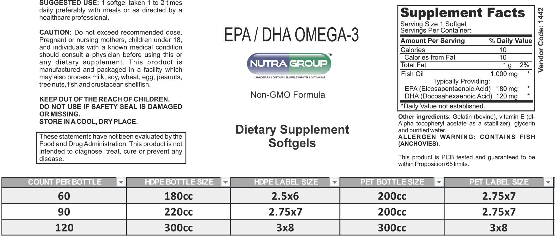 Private label EPA DHA Supplement