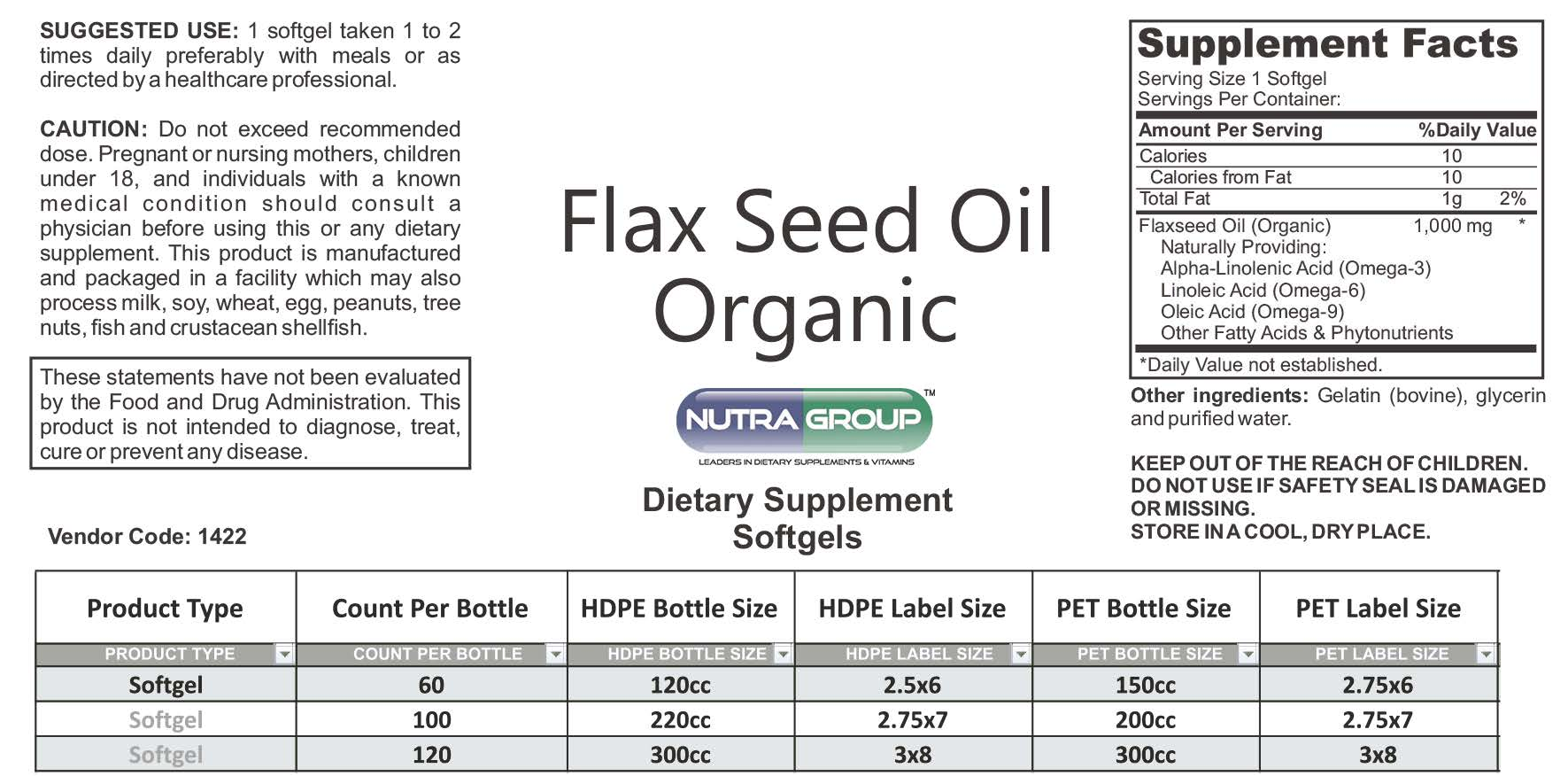 Private label Flaxseed Oil