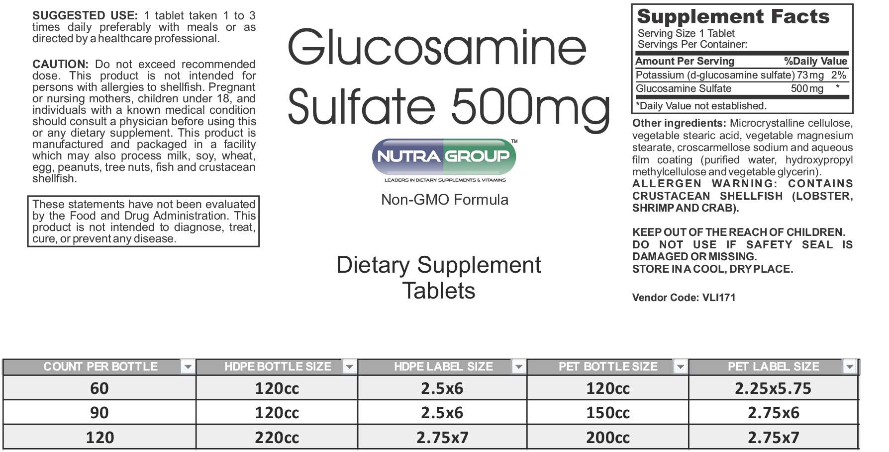 Private label Glucosamine Sulfate