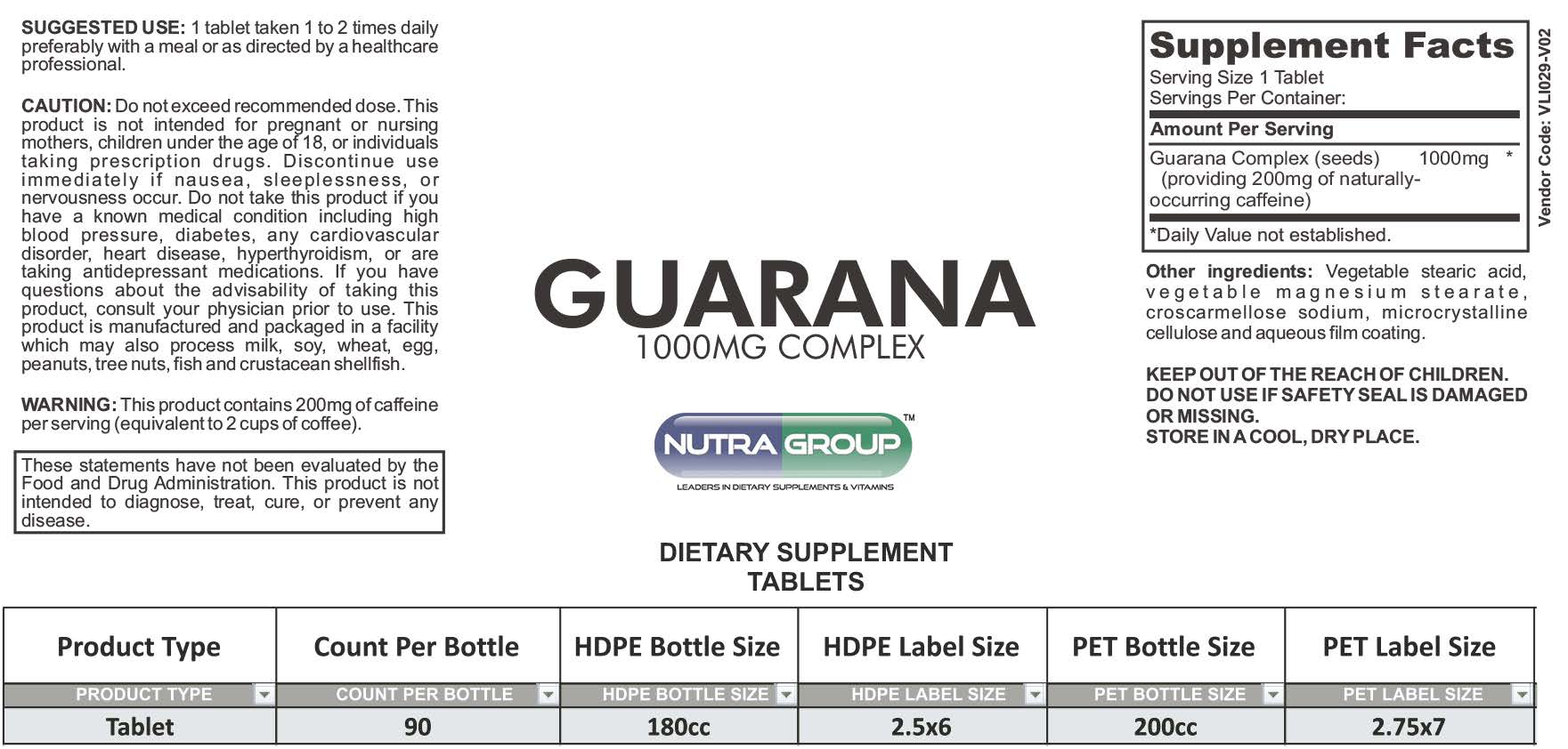 Private Label Guarana Supplements