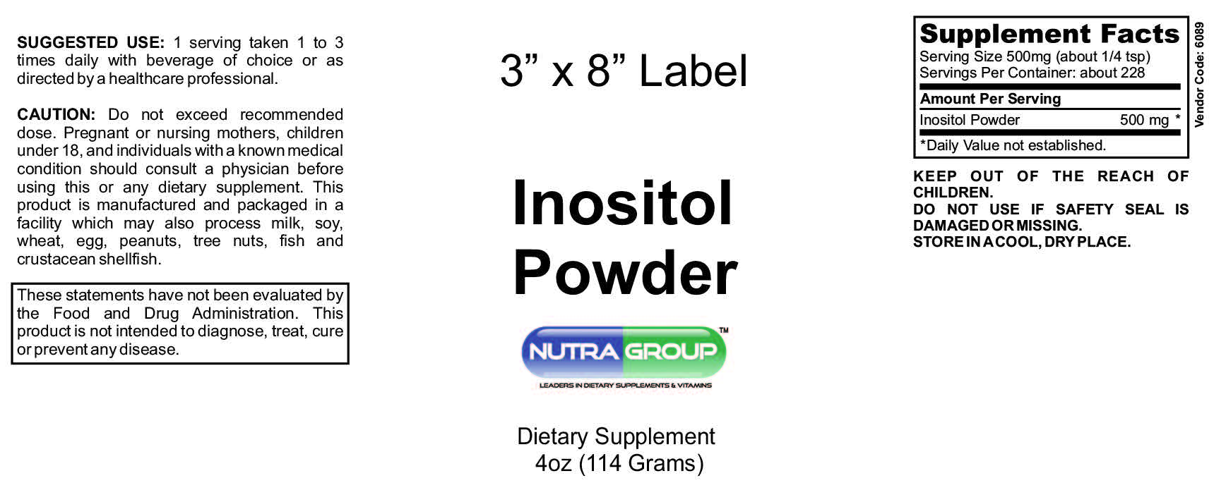Private label Inositol Powder
