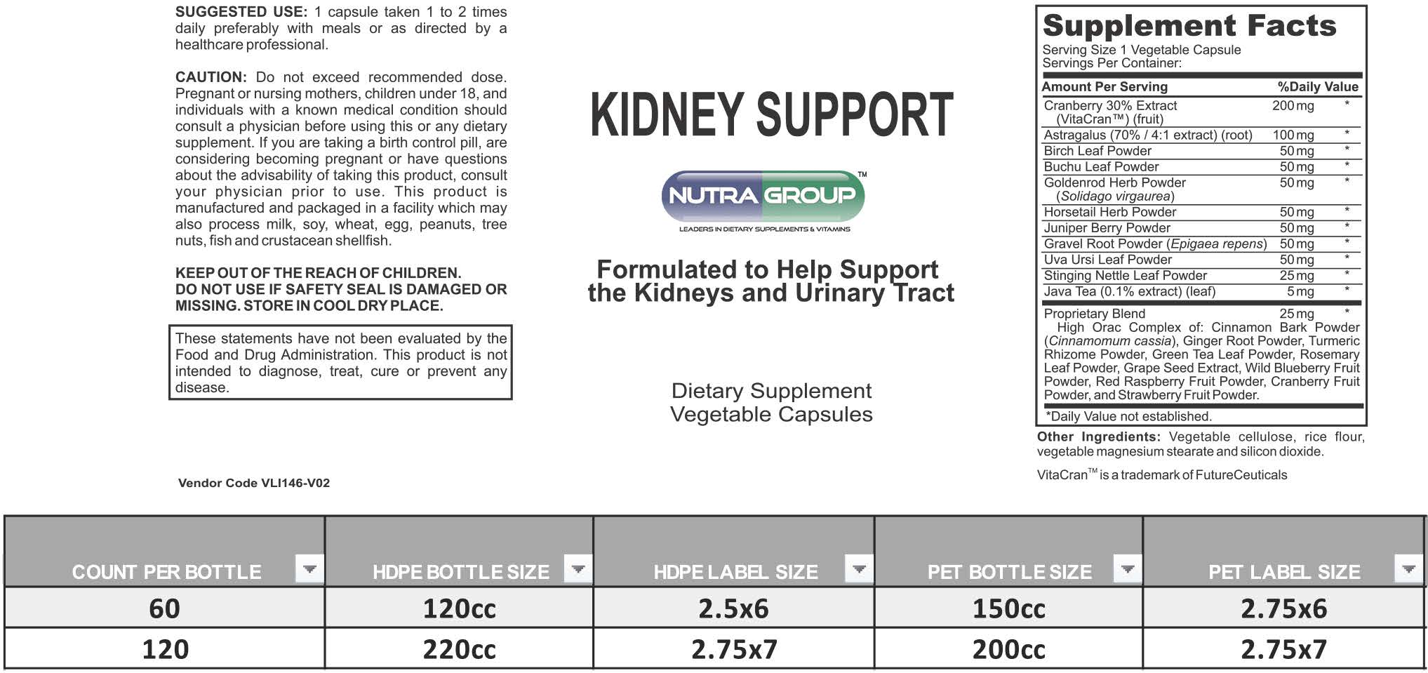 Private Label Kidney Supplement