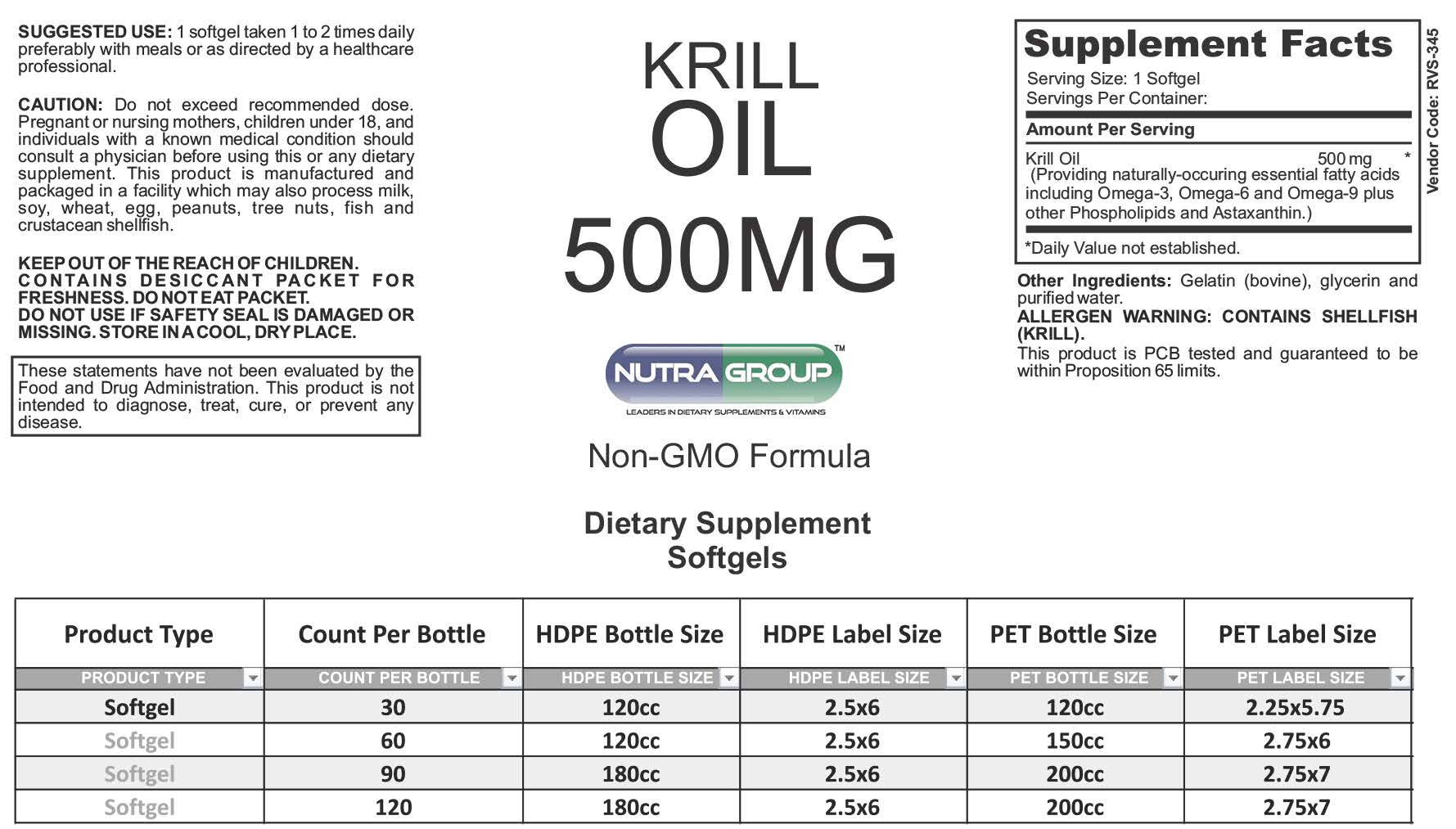 Private label Krill Oil supplements