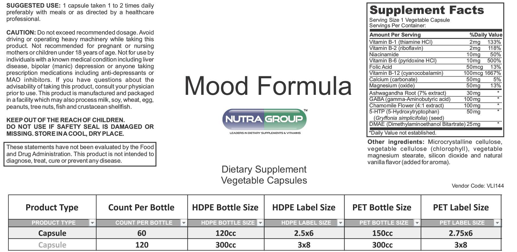 Private Label Mood supplements