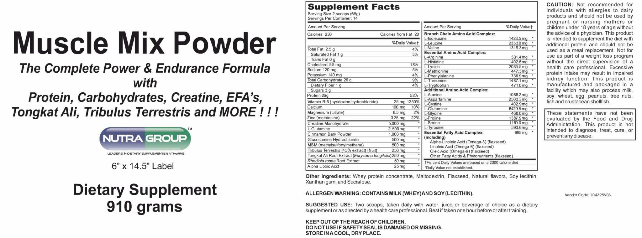Private Label Muscle Mix powder