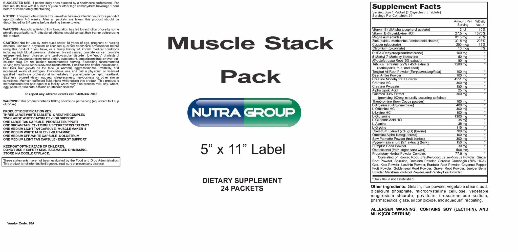 Private Label Muscle Stack Pack Supplement
