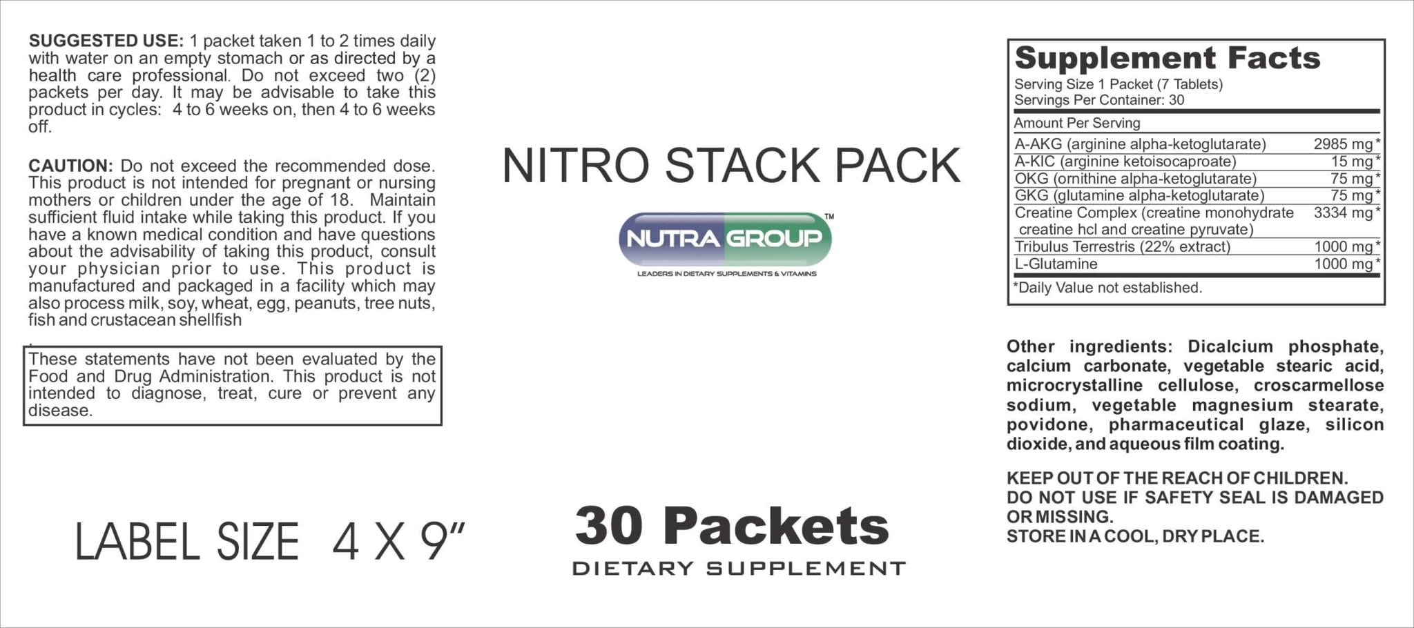 Private Label Nitro Stack Pack Supplement