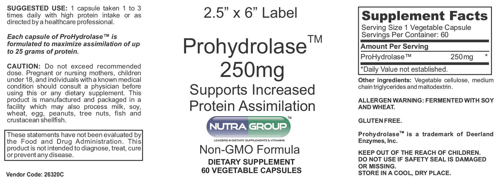 Private Label ProHydrolase Supplements