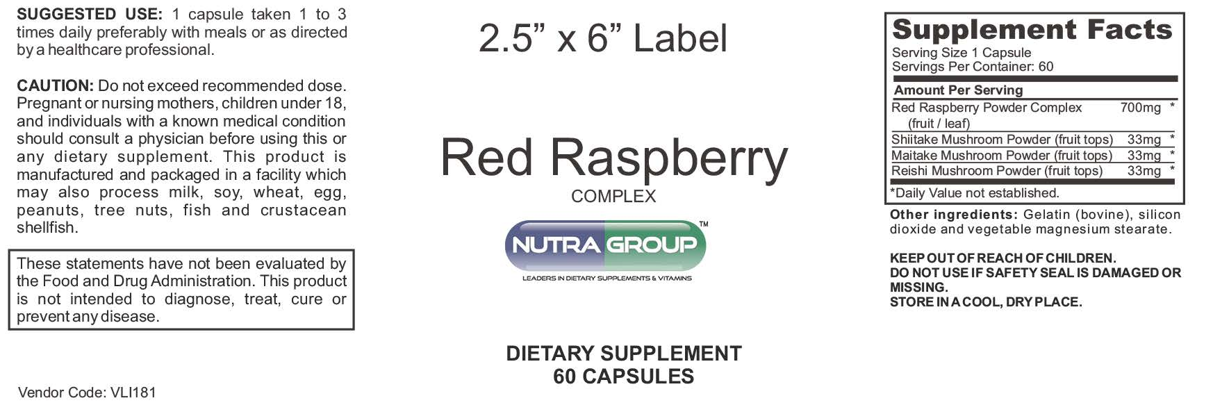 Private Label Red Raspberry supplement