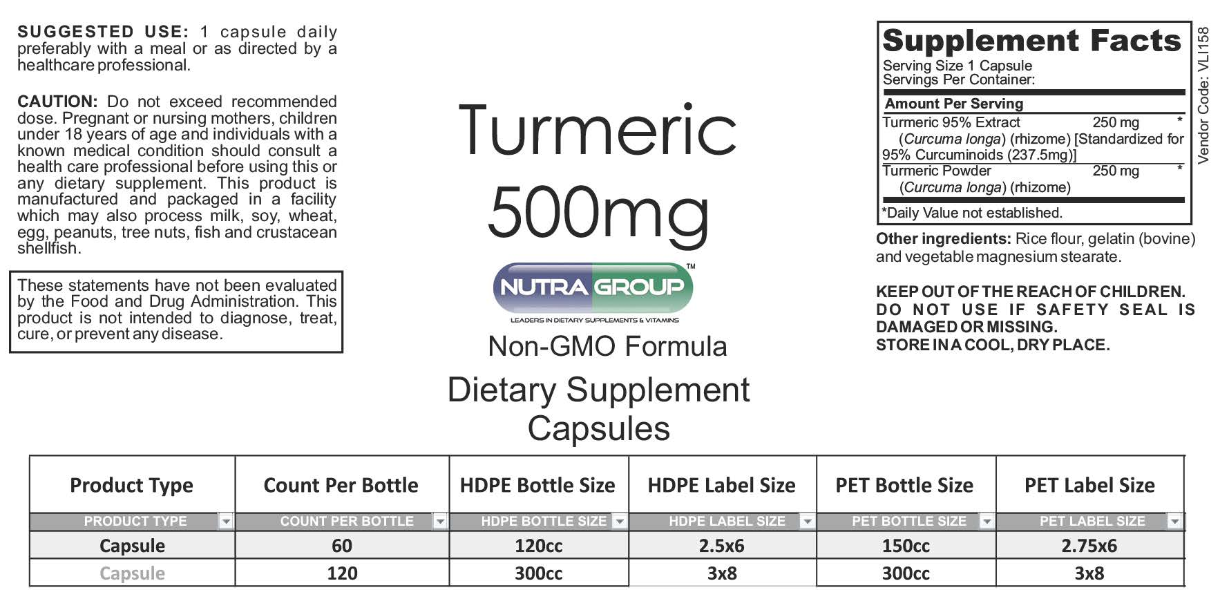Private Label Turmeric supplements