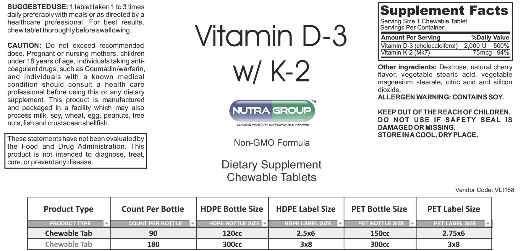 Private label Vitamin D3 with K2