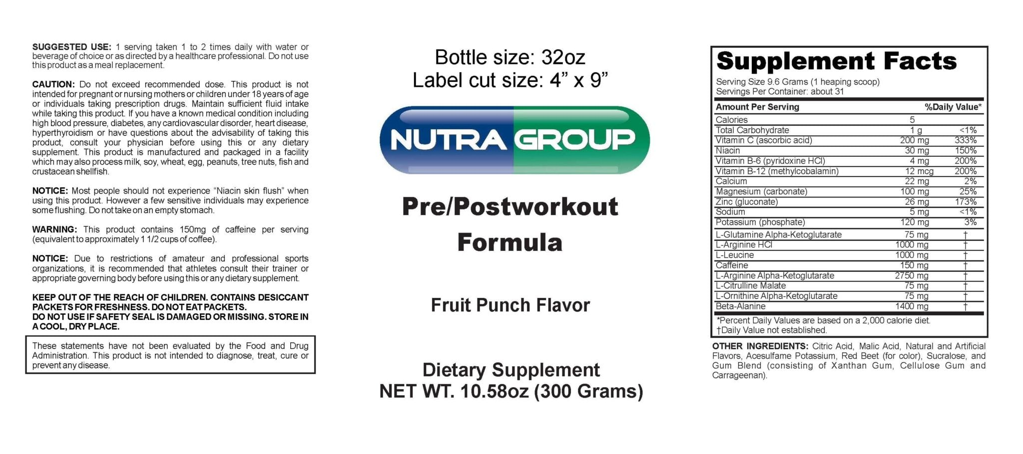 Private Label Pre Workout Powder Supplement