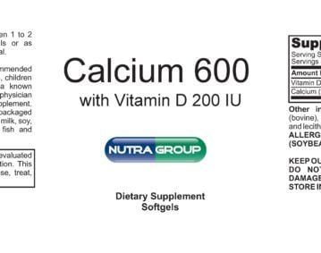 Private Label Calcium 600mg w/ Vitamin D