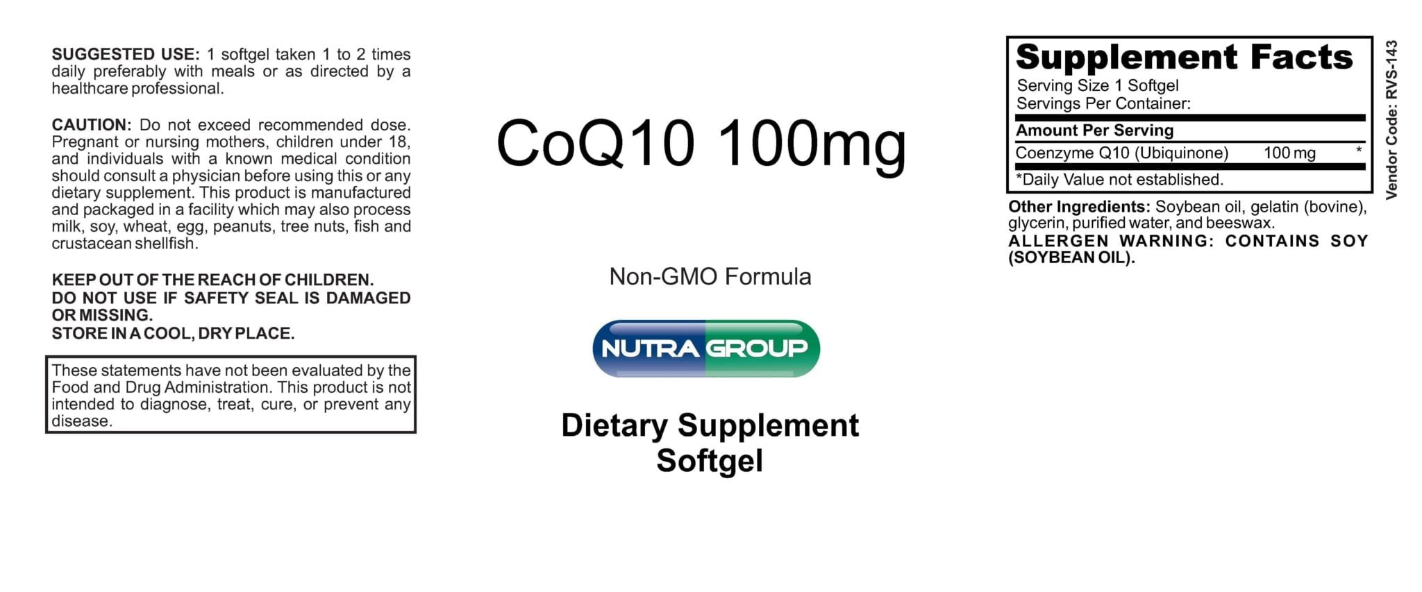 Private Label Co Q10 100mg