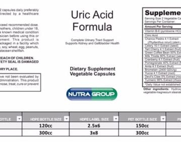 private label uric acid supplement
