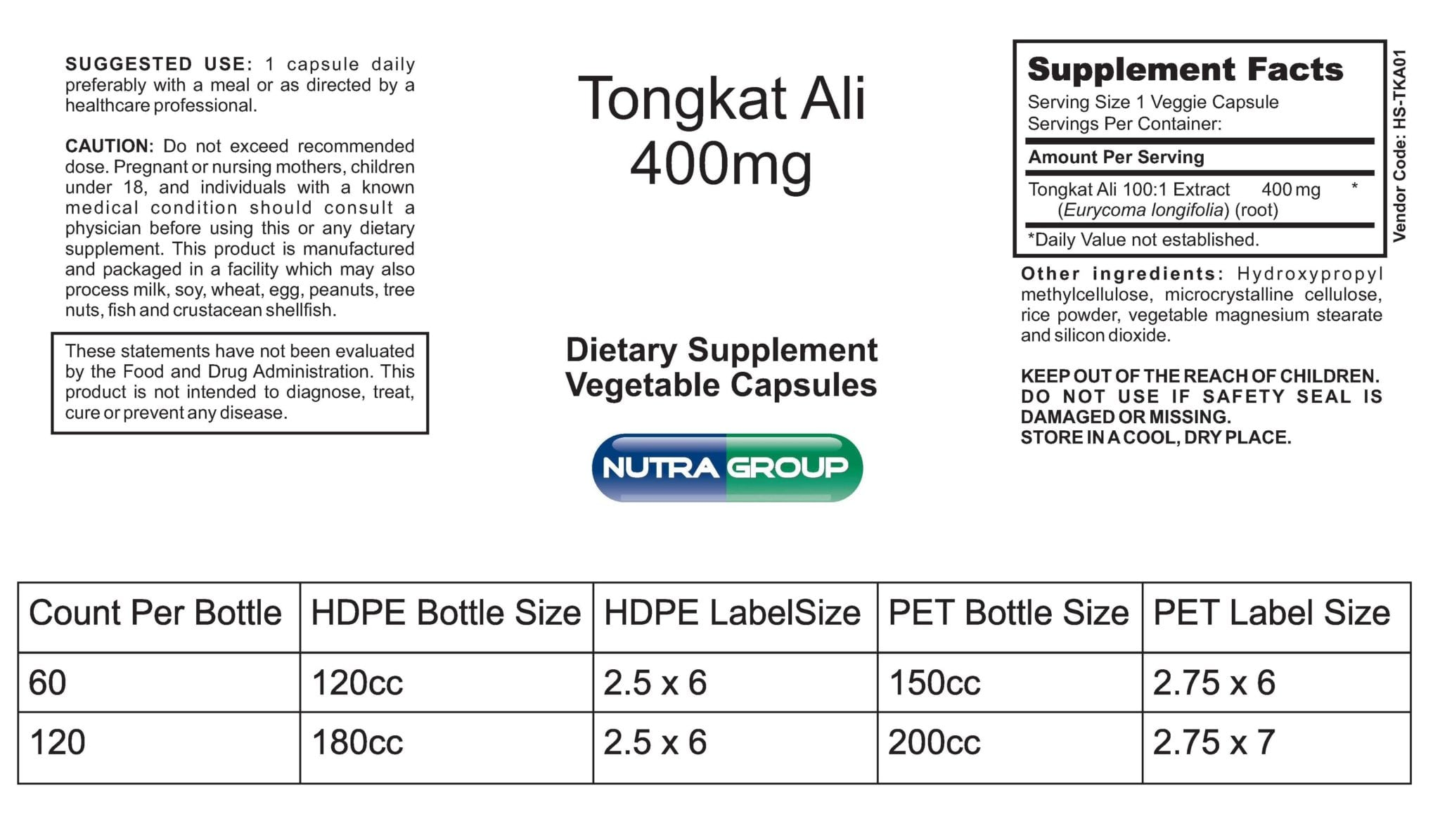 Private Label Tongkat Ali